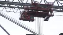 Illustrations du port du Havre avec conteneur, grues