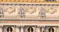 Façade et entrée des salariés de l'Opéra Garnier et image neutre smartphone