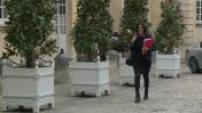 Arrivée à réunion à Matignon des ministres du nouveau gouvernement Valls 3