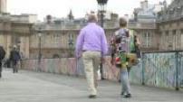 Illustrations scènes de rue : seniors et personnes âgées