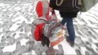 France : illustrations neige : scènes de rue, circulation routière, paysages