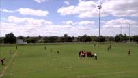 Afrique du Sud : rugby à Newcastle, paysages de campagne dans la province de l'Etat Libre d'Orange