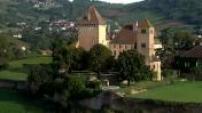 Vues aériennes des paysages de Bourgogne