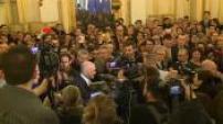 Remaniement : passation de pouvoirs entre Laurent Fabius et Jean-Marc Ayrault