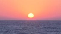 Beautiful sunset in the sea in Tel Aviv (4/11)