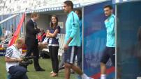 Entraînement de l'équipe de France au Stade de Bordeaux