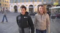 Portrait of a young couple, each champion France Triathlon