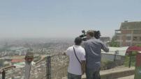 Vue aerienne par drône d'Antananarivo dont le Palais de la Reine