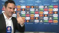 Réactions de Le Graët, Deschamps, après le tirage au sort des groupes de l'Euro 2016