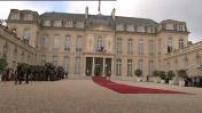 Illustrations / plans de coupe / passation de pouvoirs Hollande - Sarkozy à l'Elysée