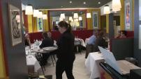 """Illustrations restaurant """"Crom'Exquis"""" ; Illustrations Pierre Meneau en cuisine ; Illustrations cromesquis"""