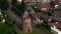 Vues Aériennes moulin dans le Pays de Flandre (Nord Pas de Calais)