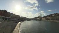 Bridge illustrations Bonaparte and Place des Jacobins in Lyon