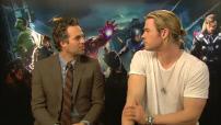 "Interview (Junket) Mark Ruffalo & Chris Evans pour ""The Avengers"""