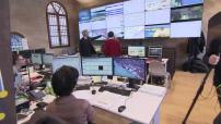 Venice : Project Moise surveillance room and Rialto bridge