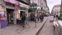 Illustration - Lisbon downtown, Tagus and coastal