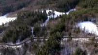 Vues Aériennes forêt alpine enneigée entre La Chapelle en Vercors et Saint Martin en Vercors