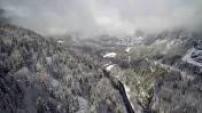 Vues Aériennes vallée de Chamonix enneigée