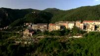 Vues aériennes de la région de Bozio en Corse.