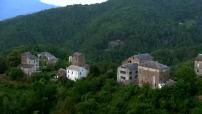 Vue Aérienne Corse Région d'Orezza Carpineto