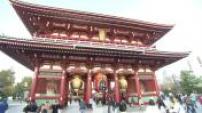 Illustrations of the city of Tokyo Odaiba island Asakusa area and Senso-ji Temple