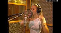 Lorie in recording studio & interview