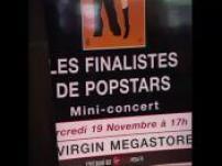 Mini concert Linkup at the Virgin Megastore Champs Elysées