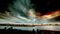 Coucher de soleil spectaculaire sur La Havane
