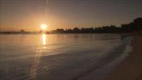 Tanzanie : coucher de soleil Dar Es Salaam, belle image