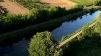 Vue Aérienne Castets en Dorthe et Canal de Garonne