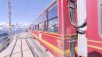 Illustration train Jungfraubahn
