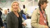 Université d'été du FN : arrivée de Marine le Pen