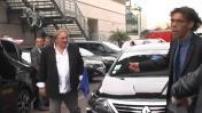 """Festival de Cannes 2014 : Arrivée de Gérard Depardieu pour la projection de """"Welcome to New York"""""""