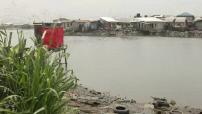 Illustration Nigeria Lagos harbor and gas station
