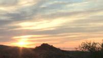 Timelapse sunset near Route 66
