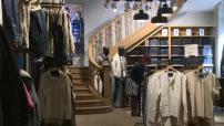 Recyclage des jeans : illustr.magasin Bononobo Jeans et illustr.centre de tri Le Relais et illustr.filature