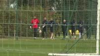 Football : entrainement de l'équipe de France à Clairefontaine