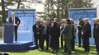 Euro 2016 : inauguration du nouveau centre de formation et de conférence de l'Equipe de France de football à Clairefontaine