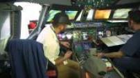 Illustrations du cockpit de l'Airbus A380 et du site Airbus Lagardère