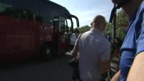 L'équipe de France de Foot s'entraine à VTT lors d'une balade à Biarritz