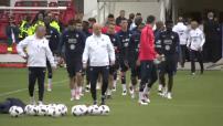 Football : L'équipe de France à l'entrainement