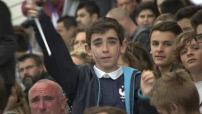 Premier entrainement à Biarritz pour l'équipe de France de football