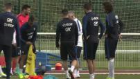 Entrainement de l'équipe de France de Foot à Clairefontaine