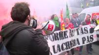 Manifestation de cheminots à Paris