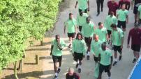 Euro 2016 : illustrations de l'entraînement de l'Equipe du Portugal à Marcoussis