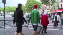 Euro 2016 : illustrations des mesures de sécurité autour du Parc des Princes avant le match Turquie - Croatie