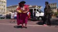 Euro 2016 : supporters turcs et espagnols sur la Promenade des Anglais