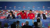 Euro 2016 : conférence de presse et entraînement de l'équipe d'Espagne
