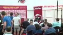 Euro 2016 : illustration de la conférence de presse et de l'entraînement de l'Equipe de Belgique à Bordeaux