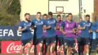 Euro 2016 : entraînement de l'équipe d'Islande
